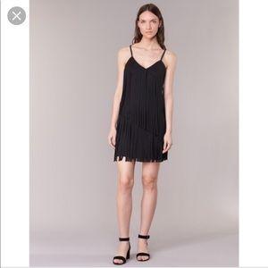 NWT $294 love moschino tassels mini black dress